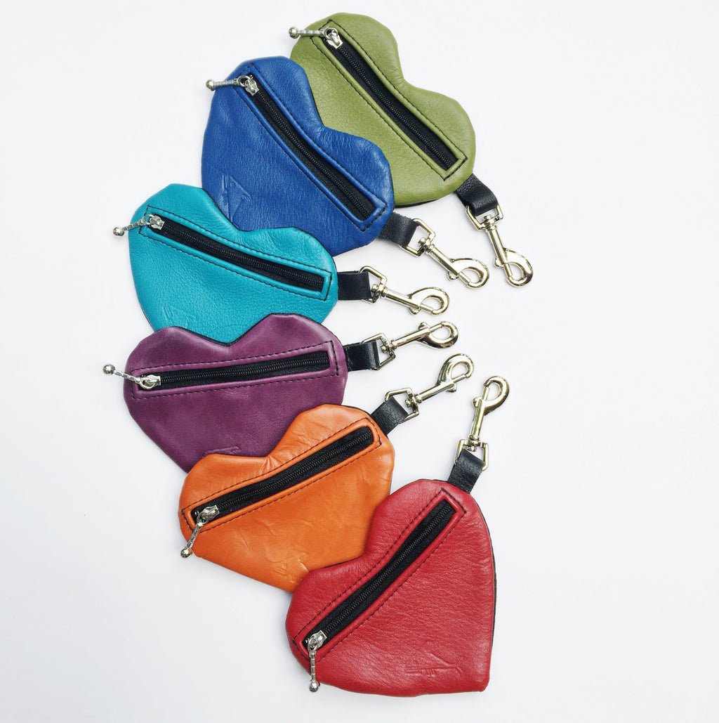 Heart Change Purse - Indian Summer's designer leather purses