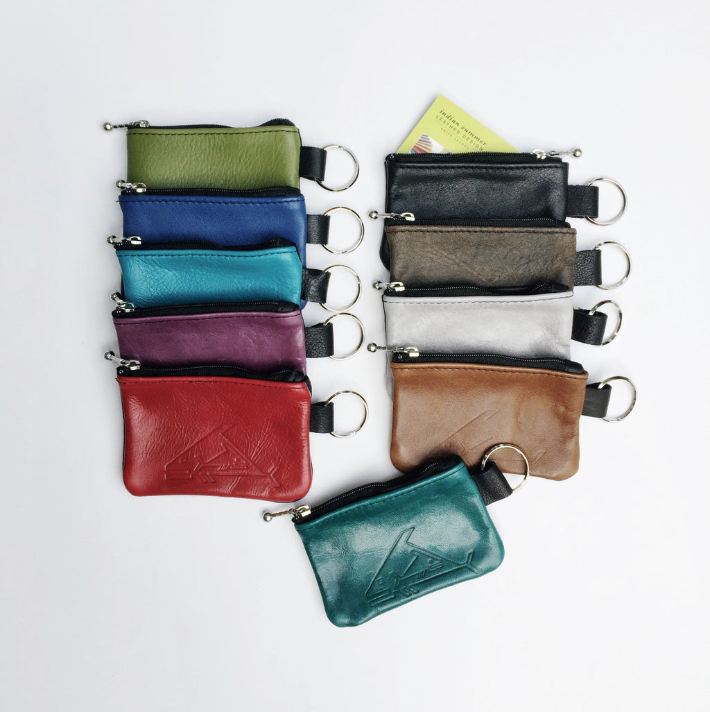 "4"" Change Purse - Indian Summer's designer leather purses"