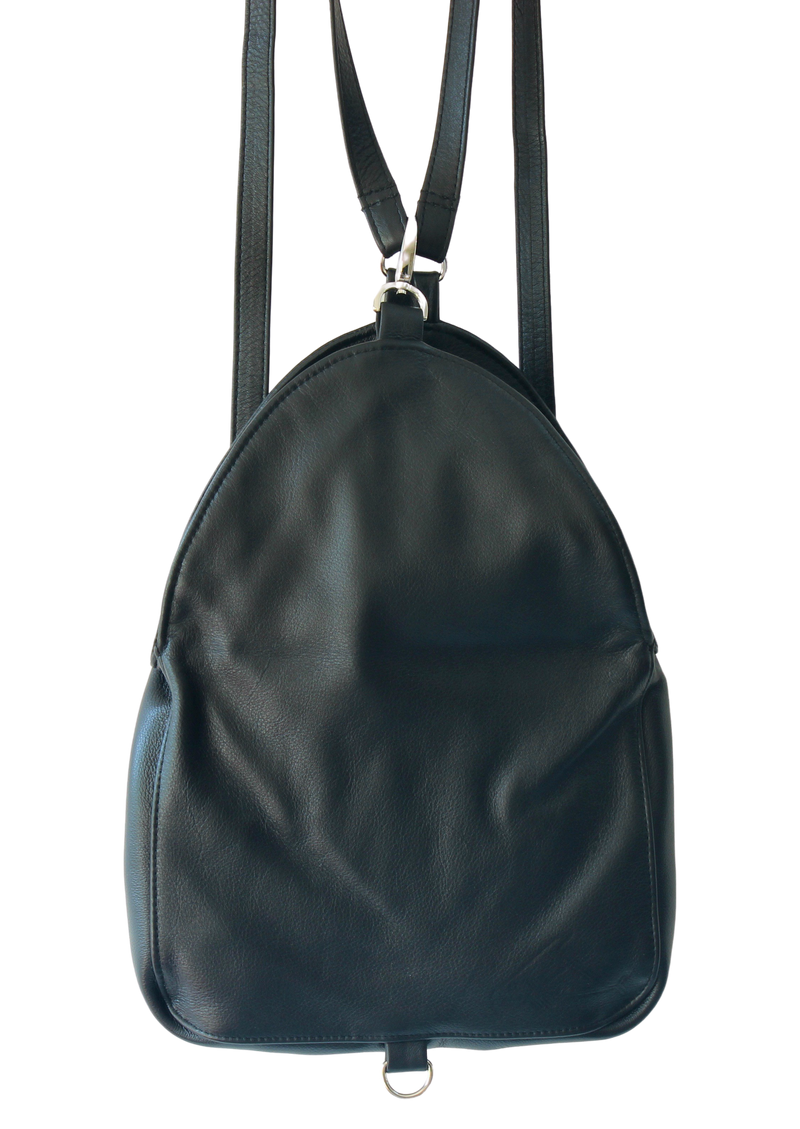 Egg Bag Zig Zag Backpack - Indian Summer's designer leather purses
