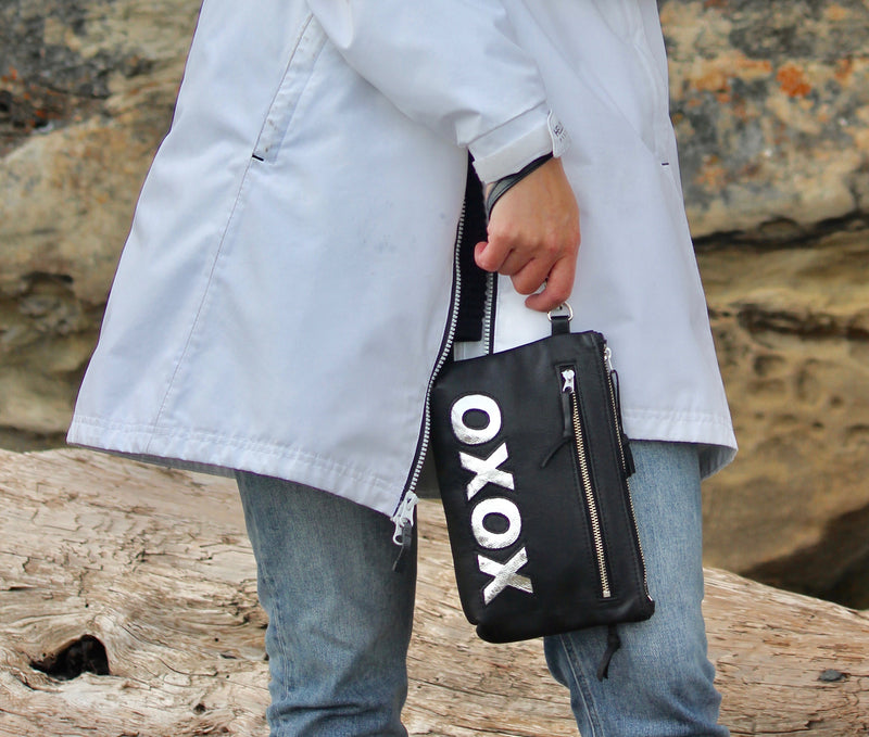 xoxo Wristlet - Indian Summer's designer leather purses