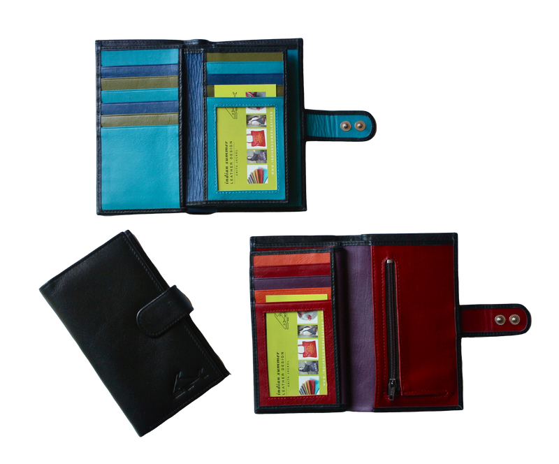 Large Credit Card Wallet - Indian Summer's designer leather purses
