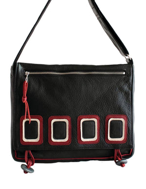 College Bag - Op Art - Indian Summer's designer leather purses