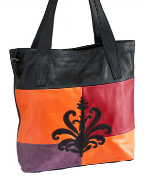 Large Siena Tote Bag - Indian Summer's designer leather purses