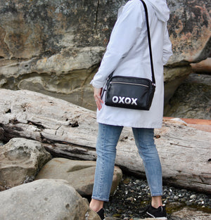xoxo Compact Purse - Indian Summer's designer leather purses