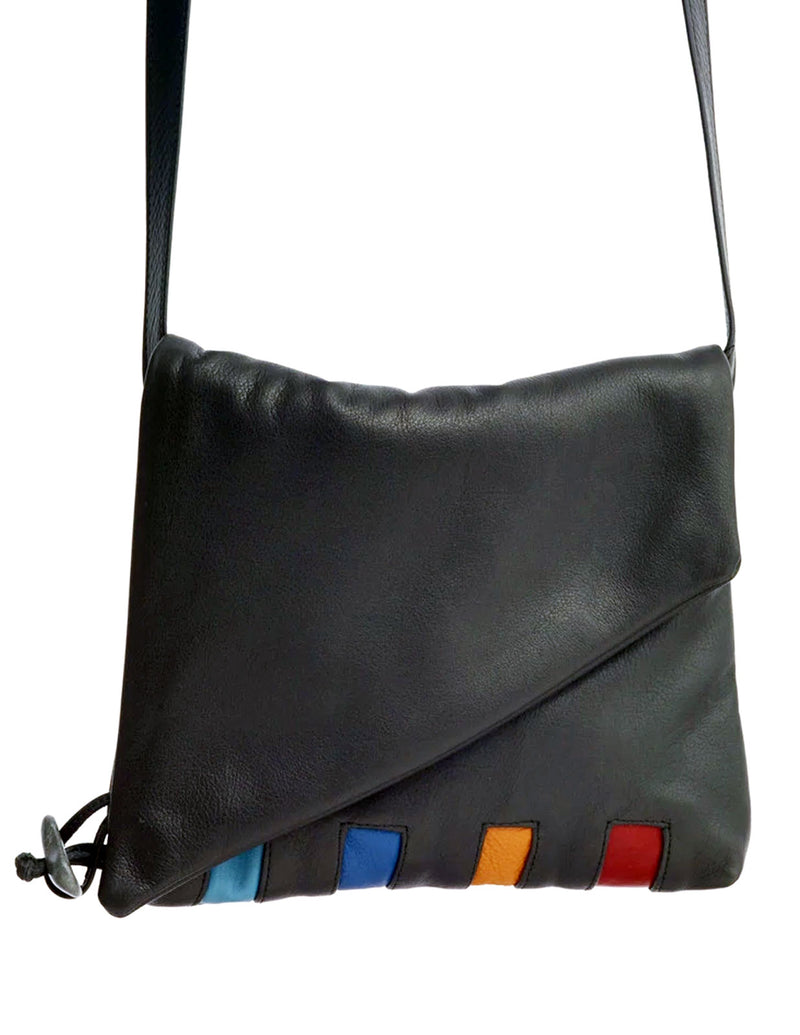 Shoulder Fold - Piano (available in 2 sizes) - Indian Summer's designer leather purses