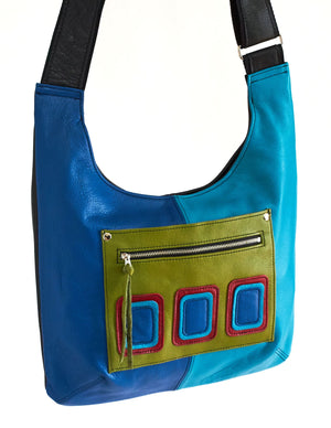 Shoulder Sling - Op Art - Indian Summer's designer leather purses