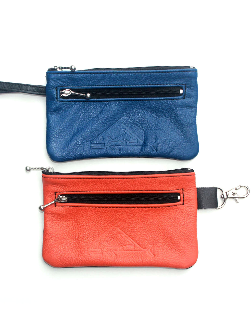 Wristlet or  Wallet Bag with Snap Hook - Indian Summer's designer leather purses