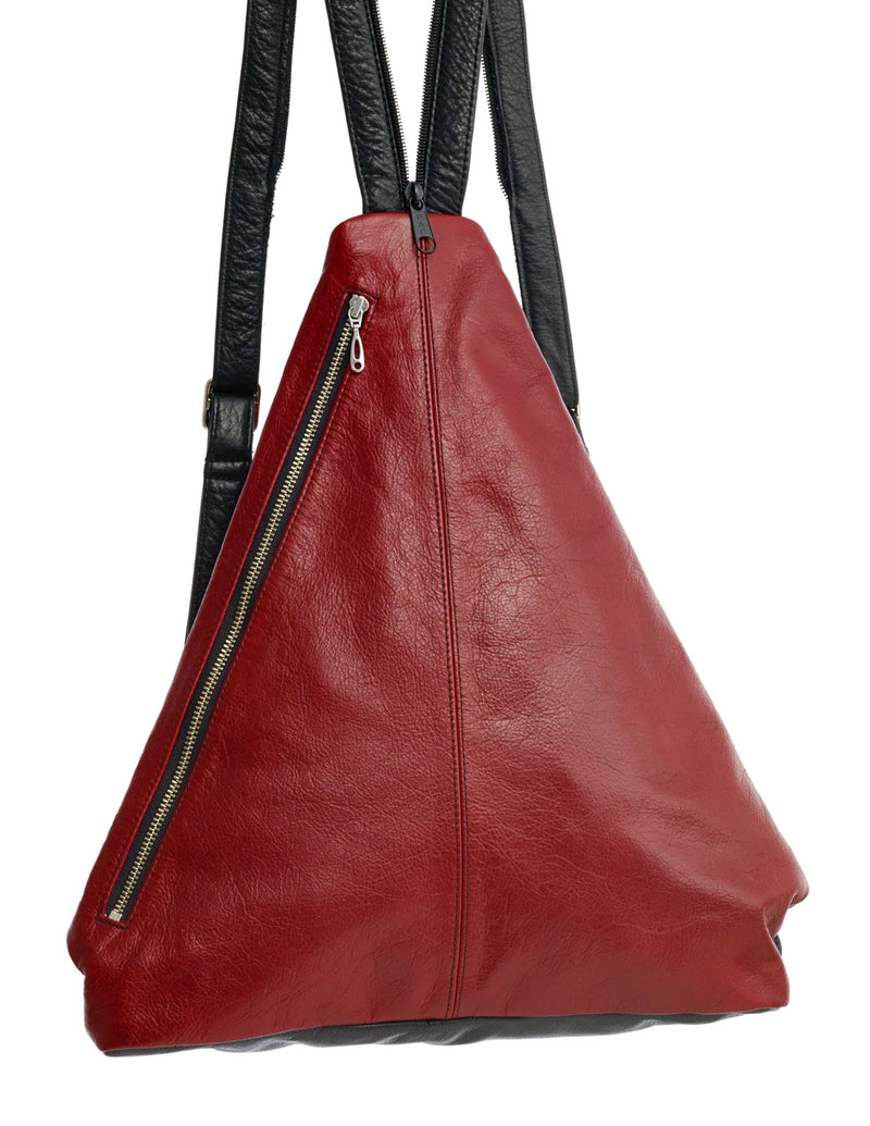 Triangle Fold - Piano - Indian Summer's designer leather purses