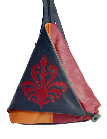 Triangle Fold - Siena - Indian Summer's designer leather purses