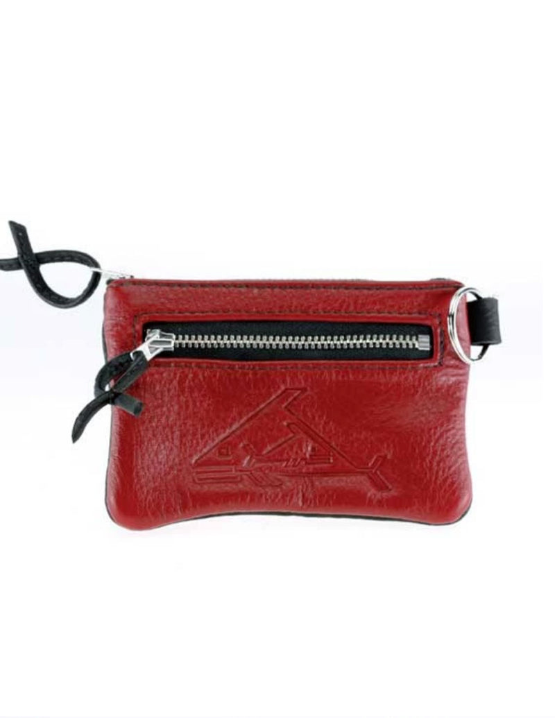 Triple Zip Change Purse - Indian Summer's designer leather purses