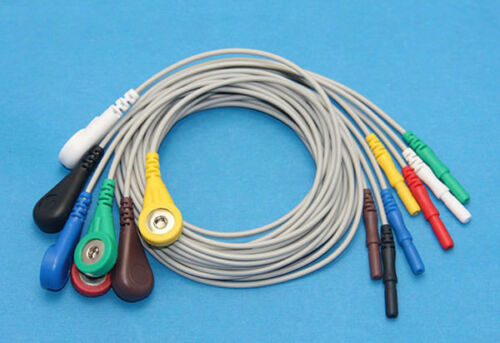 Holter Cable Leads 1.5 mm Din (Female socket type) Snap type leads