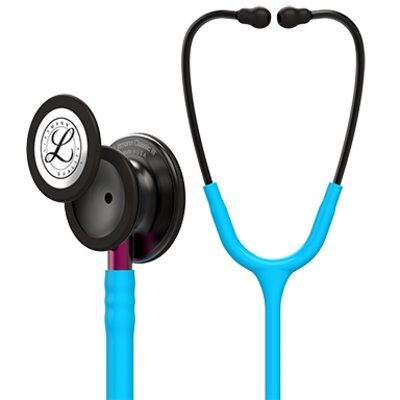 Littmann Classic III Stethoscope, Smoke Chestpiece, Turquoise Tube, Pink Stem and Smoke Headset, 27 inch, 5872