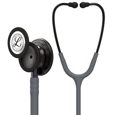 Littmann Classic III Monitoring Stethoscope, Smoke Chestpiece, Gray Tube, Violet Gray Stem and Smoke Headset, 27 inch, 5873