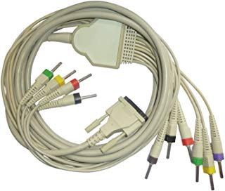 ECG Patient Cable: 10 Lead for BPL 6108 / 8108 /Schiller/ HP/Philips-PW-100/ Mac 500-1200