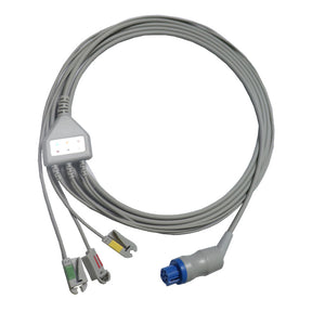 ECG Monitor cable with imported neonatal grabber leads compatible with  HP/ Philips V24