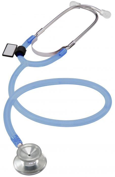 MDF Dual Head Pediatric Stethoscope- Translucent Blue (MDF747CIIC)