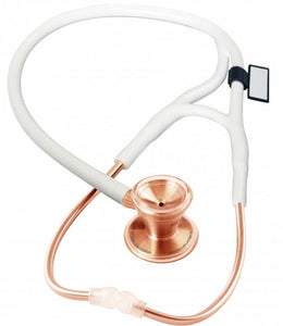 MDF Classic Cardiology Dual Head Stainless Steel Stethoscope -Gold Edition- Rose Gold White (MDF797RG29)