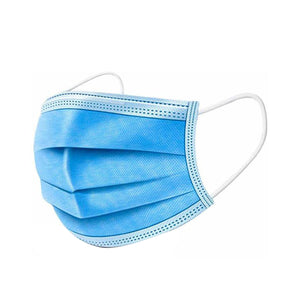 Surgical Face Mask - 3 Ply mask without nose pin (Pack of 50)