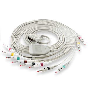 Imported ECG Patient Cable - 10 Lead compatible with Philips / GE / Schiller / BPL