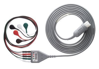 ECG Monitor cable - 5  lead ECG cable compatible with Philips - V 24/ L & T - Galaxy & GE Dash 2000