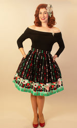 Candy Cane Cocktails Swing Skirt