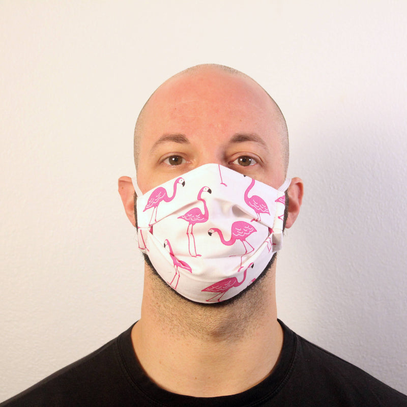 Flirty Flamingos Mask