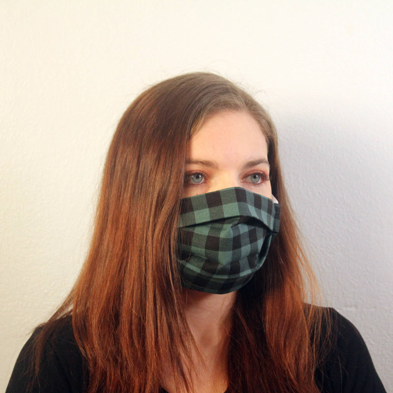 Green Buffalo Check Mask