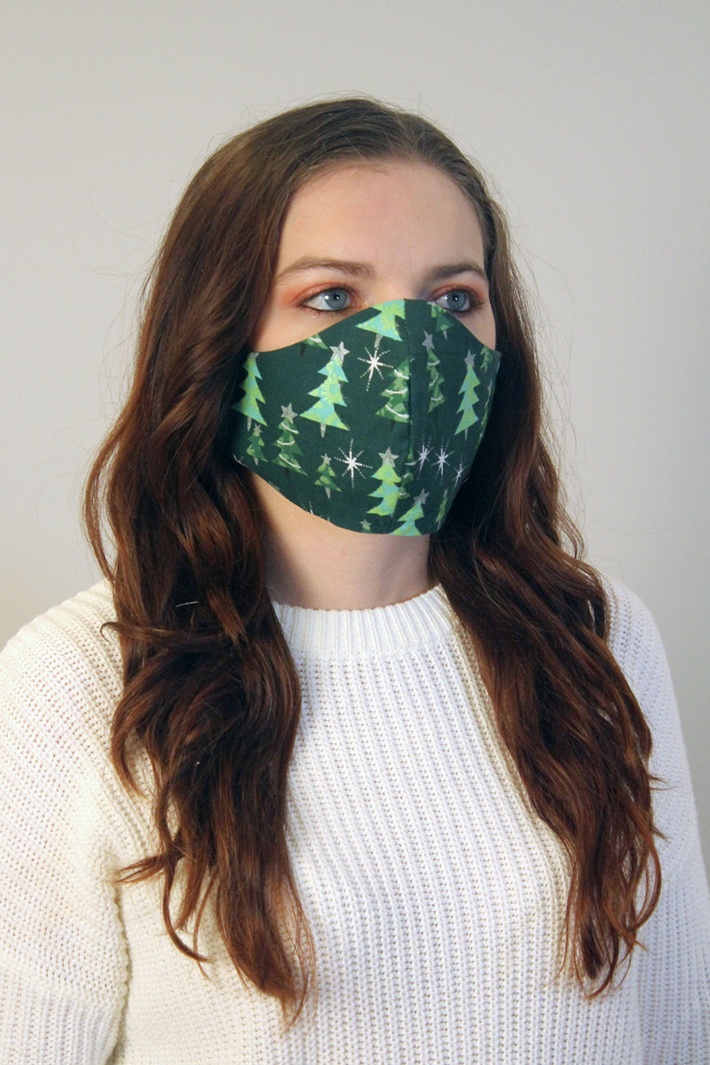 Twinkle Trees Fitted Face Mask
