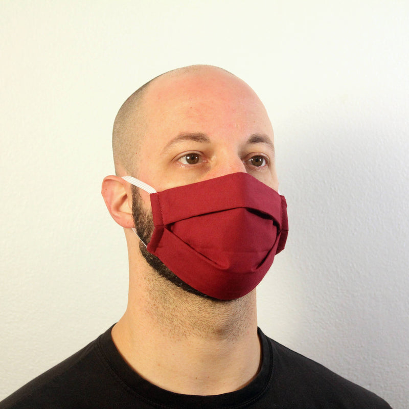 Solid Maroon Mask