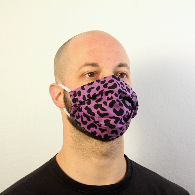 Purple Leopard Print Mask