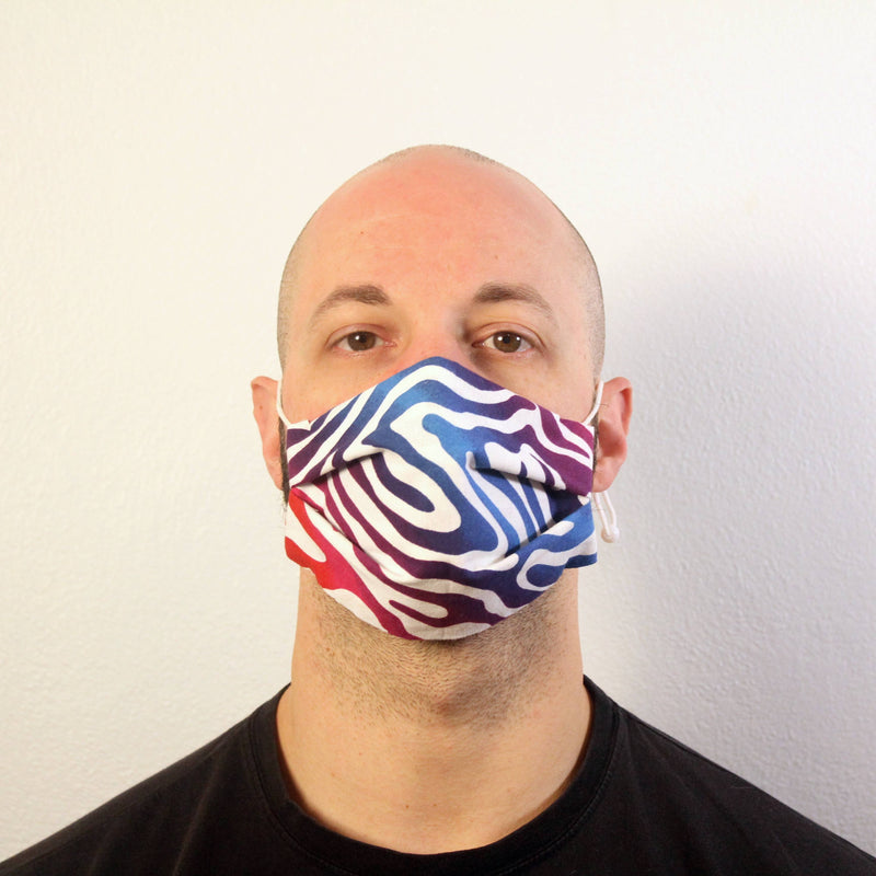 Rainbow Zebra Stripe Mask