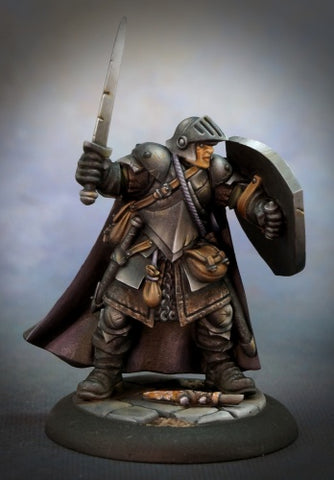 Reaper Miniatures 07002: Dungeon Dwellers: Baran Blacktree, Veteran Warrior