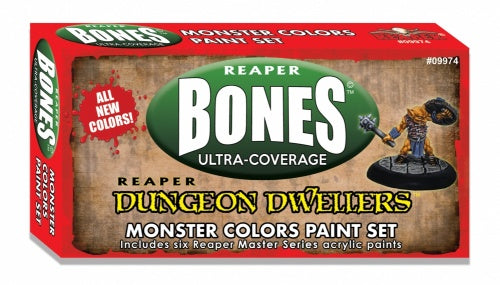 09974: MSP Bones: Dungeon Dwellers Paint Set - Monster Colors Set