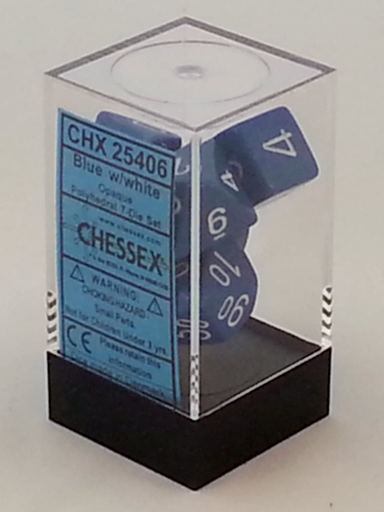 Opaque Blue 7 Dice Polyhedral Set