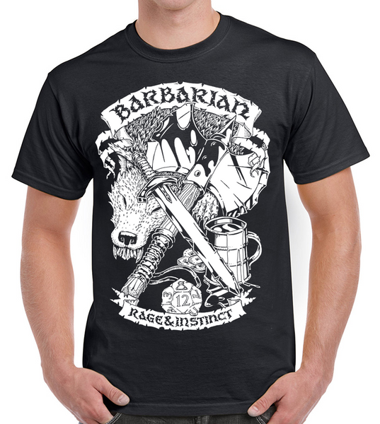 Fantasy RPG T-Shirt - Barbarian