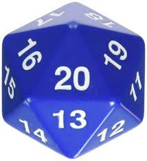 Giant 55mm 20 sided dice (d20)
