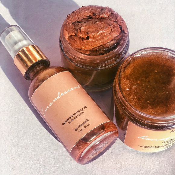 body bronzer and body oil