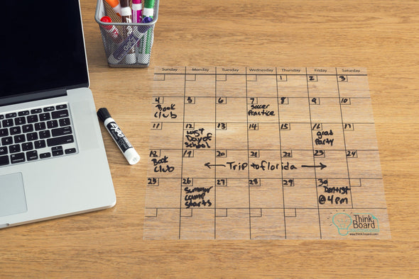 Think Board Calendar - Think Board Dry Erase Whiteboard Films