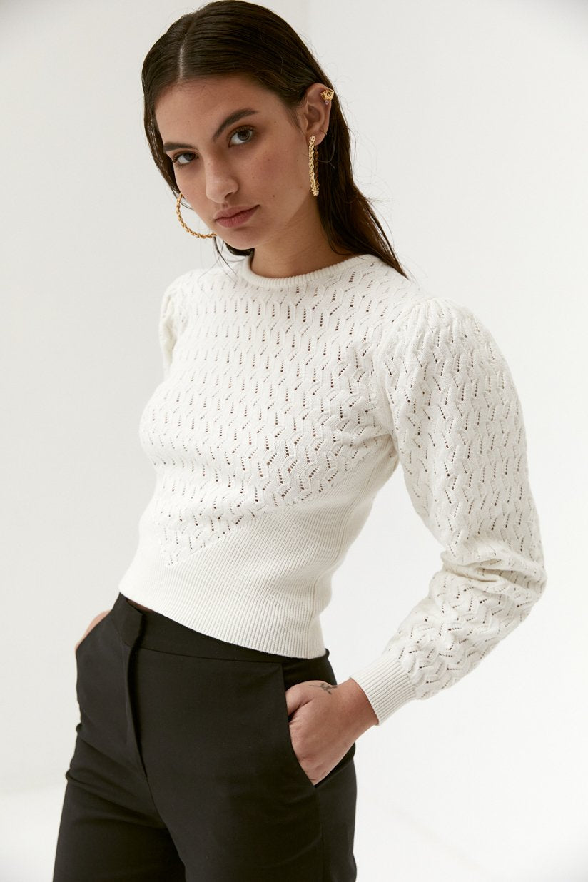 sweater bree by Muser Paris, available on musier-paris.com for $143 Bella Hadid Top SIMILAR PRODUCT