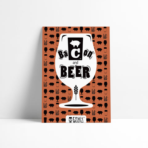 "PRINT - ""BACON & BEER"""