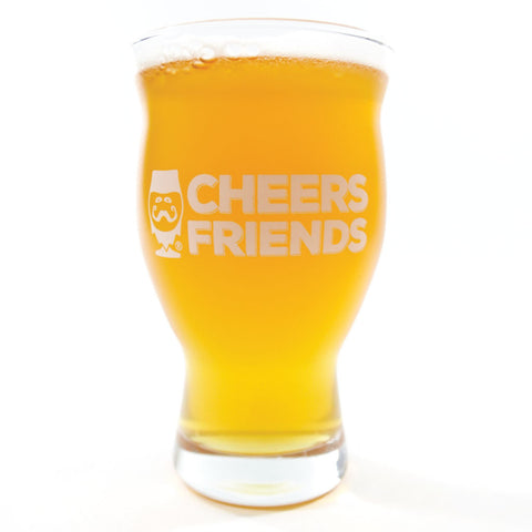 "GLASSWARE - ""CHEERS FRIENDS"" GIFT SET - Craft Beer T-Shirts, Beer Art and Beer Gifts 