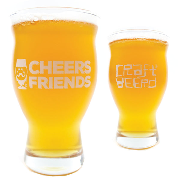 "GLASSWARE - ""CHEERS FRIENDS"" - Craft Beer T-Shirts, Beer Art and Beer Gifts 