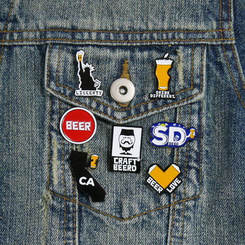 BEER PIN - CRAFT BEERD® SET OF 3 - Craft Beer T-Shirts, Beer Art and Beer Gifts | CRAFT BEERD ® - 1