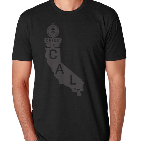 "CRAFT BEER T-SHIRT (MEN'S) - ""DRINK LOCAL CALIFORNIA"" 