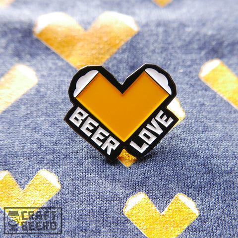 BEER PIN - BEER LOVE - Craft Beer T-Shirts, Beer Art and Beer Gifts | CRAFT BEERD ® - 1
