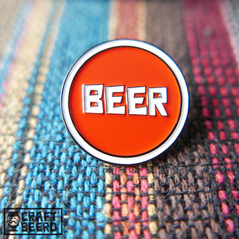 BEER PIN - BEER - Craft Beer T-Shirts, Beer Art and Beer Gifts | CRAFT BEERD ® - 1