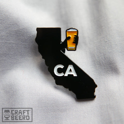 BEER PIN - CHEERS CALIFORNIA - Craft Beer T-Shirts, Beer Art and Beer Gifts | CRAFT BEERD ® - 1