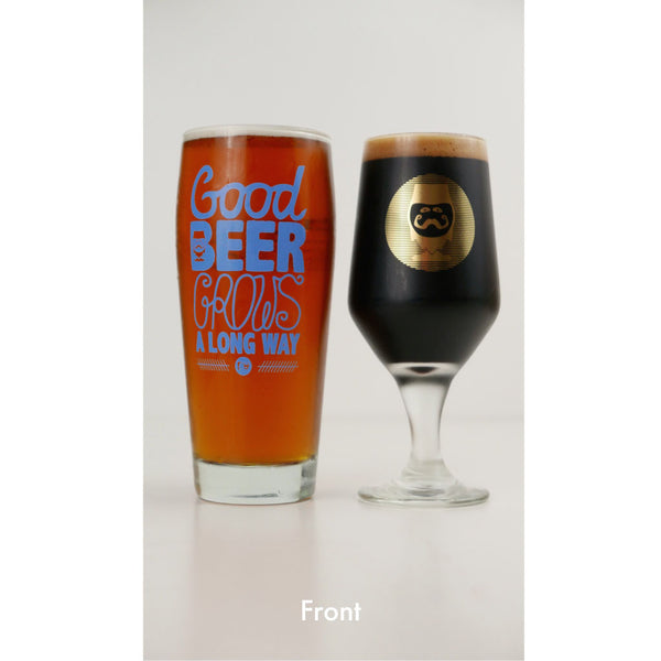 "CRAFT BEER GLASSWARE - ""DOUBLE FISTED GIFT SET"" - Craft Beer T-Shirts, Beer Art and Beer Gifts 