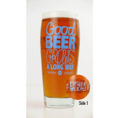 "GLASSWARE - ""GOOD BEER GROWS"" - Craft Beer T-Shirts, Beer Art and Beer Gifts 