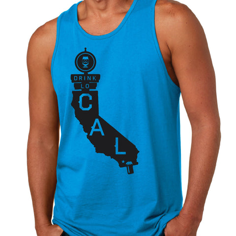"CRAFT BEER TANK (MEN'S) - ""DRINK LOCAL CALIFORNIA"" 